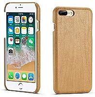IPhone 7 Plus / 8 Plus、Iphone 7/8 Plus用のレトロな木製パターンレザーケース、ハード保護カバーケース用の携帯電話アクセサリー (Color : Brown)