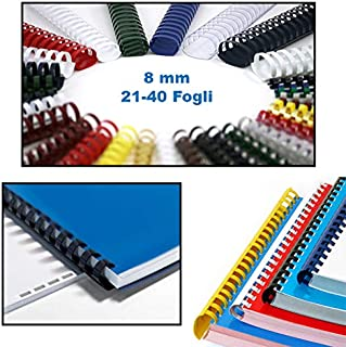 in plastica 10 mm Confezione da 100 anelli A4 colore: Bianco Texet 78247BL
