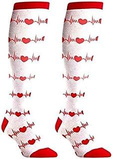 RN NURSE REGALOS CALCETINES – Bonito diseño divertido que combina con tu uniforme – Nuevo blanco a la rodilla