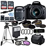 Canon EOS 2000D (Rebel T7) DSLR Camera w/Canon EF-S 18-55mm F/3.5-5.6 Zoom Lens + Case + Sandisk 128gb Ultra Memory Card with Inspire Digital Cloth