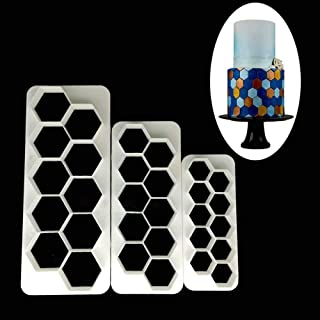FTFSY Cake Mold 3pcs Hexagon Geometry Fondant Cookie Cutter Cake Mold Biscuit Confectionery Decorating Tools Baking Moulds