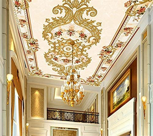 New sales HGFHGD 3D Ceiling Wallpaper Rice Limited price sale Stone W Living Room red