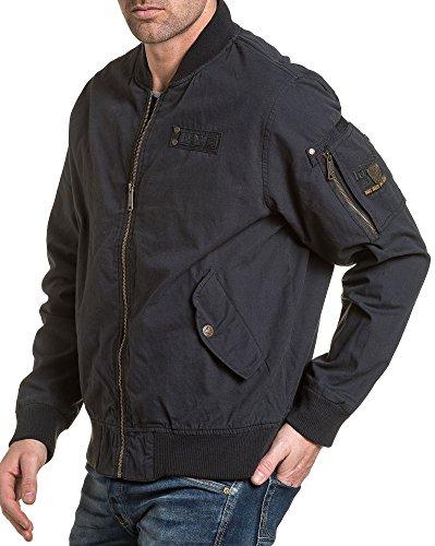 Legender`s Reißverschluss-Jacke gestickt Marine Mann - Color: Blau, Size: S