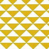 Fabulous Fabrics Dekostoff Dreieck 6 – senf — Meterware
