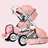 Travel System Infant Carriage Portable Baby Stroller 3 In 1 Infant Pram Stroller,5-Point