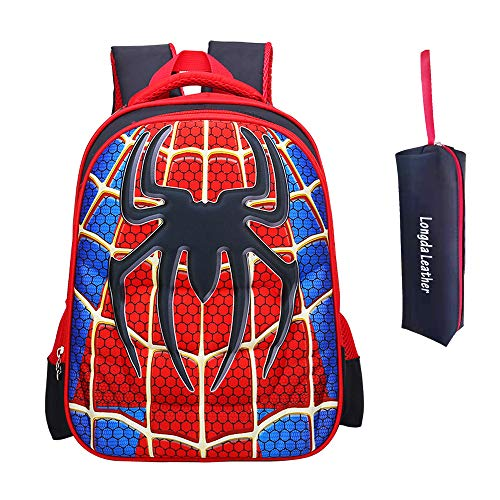 School Backpack for Boys Kids Schoolbag Student Bookbag Rucksack Waterproof Shoulder Bag Daypack with Anime Super Hero (A03, Small:38x28x12 cm)