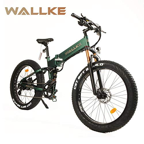 W WALLKE X3 Por 26-inch Fat Tire Electric Bicycle 48V14AH Samsung Lithium Battery Adult Auxiliary...