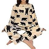 ShSnnwrl Pijama Mujer de Pijamas Hombre Conjunto de Pijamas de...