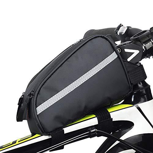 CXQWAN Sac Cadre vélo, imperméable vélo Crossbar Poche Avant Tube Top Pannier pour Mountain Road VTT Vélos
