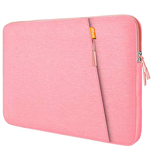 JETech Laptop Sleeve Compatible for 13.3-Inch Notebook Tablet iPad Tab, Compatible with 13' MacBook Pro and MacBook Air,Waterproof Shock Resistant Bag Case with Accessory Pocket, Pink