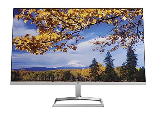 HP M27f Monitor (Pantalla de 27 Pulgadas, Full HD IPS, 75 Hz, AMD FreeSync, VGA, 2 x HDMI 1.4, Tiempo de Respuesta de 5 ms, HP Low-Blue-Light) Plateado