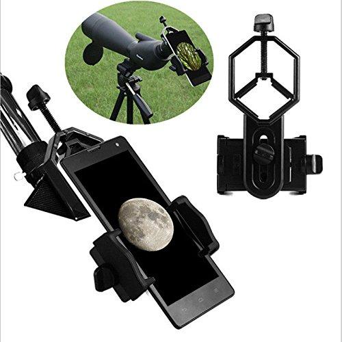 YELLAYBY Telescopio Universal Teléfono Móvil Adaptador Adaptador Smartphone Adaptador Soporte para los ámbitos de Manchas binoculares monoculares Observación Naturaleza