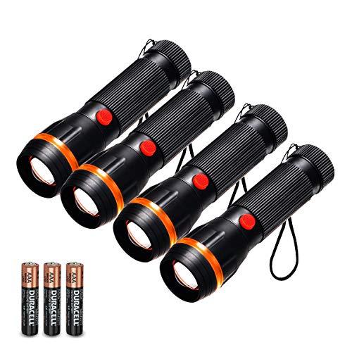 Fulighture - Juego 4 linternas LED estándar mini
