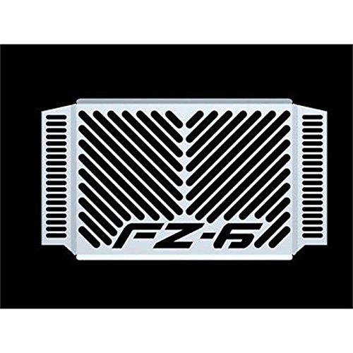 Yamaha FZ 6 Fazer BJ 2007-10 Kühlerabdeckung Wasserkühler Kühlergrill Kühlerschutz Kühlergitter Kühlerschutzgitter Kühlerverkleidung Logo silber