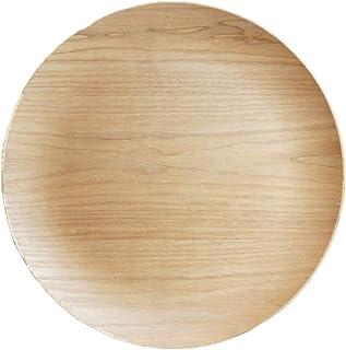 K'sキッチン 丸トレー30cm 木製 木のお盆 ウッドトレー ウイローウッド 重なる スタック オシャレ 木の皿