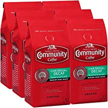 Community Coffee Café Special Decaf Medium Dark Roast Premium Ground 12 Oz Bag (6 Pack), Full Body Rich Flavorful Taste, 100% Select Arabica Coffee Beans
