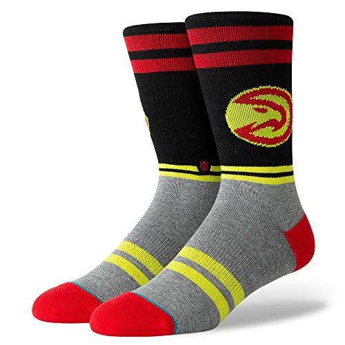 Stance M558D18ATL Men's City Gym Hawks Socks, Red - L (9-12)