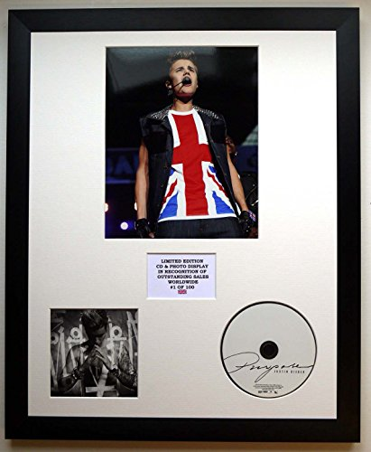 Justin Bieber/Foto & CD Display LTD. Edition des Albums Zwecks