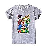 LIYIMING Super Mario - Camiseta de manga corta para niña de algodón, informal,...