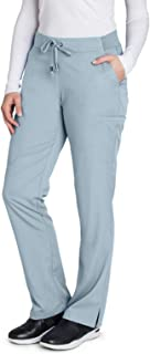 Grey's Anatomy 6-Pocket Flat Front Pant for Women - Modern Fit Medical Scrub Pant