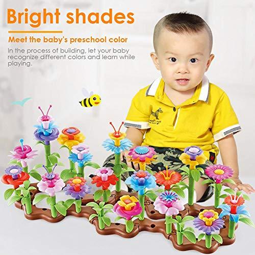 Dinapy Flower Building Toy, 104 PCS Arts and Crafts Flower Building Toy Garden Build Blocks Juguete Educativo para Niñas De 3-6 Años Regalos De Cumpleaños Outstanding Sweetie