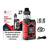 Vaptio E Cigarrillo Vaptio Wall Crawler KIT 80W FROGMAN TANK 2.0/5.0ML Kit de vapor Soporte Firmware TCR actualizable Pantalla de 1.3 pulgadas Sin batería sin líquido E sin nicotina (5ml, rojo)