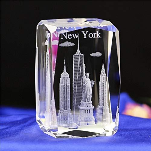 DFGDFG 3D Crystal Cube Grabado Building Modelo Figurines Miniatures Souvenirs Decoración del hogar Regalos de Lujo (Color : Miniatures 1, Size : 50x50x80mm)