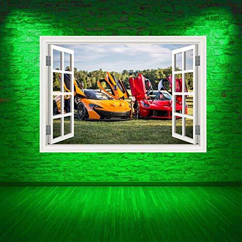 MXLYR Pegatinas de pared Transferencia de la etiqueta engomada de la etiqueta engomada del arte de la pared del color de la ventana del coche