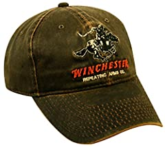 Embroidered Winchester Logo Soft Cotton Metal Eyelets Adjustable Closure