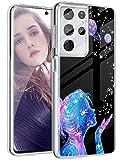 Funda de silicona para Samsung Galaxy S21 Ultra, transparente, con diseño de animales dulces, funda protectora para niñas, suave TPU, funda flexible para teléfono móvil Samsung S21 Ultra 5G