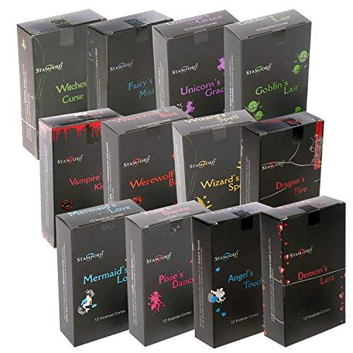 Stamford - Incenso nero 144, confezione prova da 12 coni (confezione mista), taglia unica