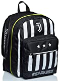 Seven Mochila doble con compartimento Juventus, Best Match, blanco y negro, para la escuela y el tiempo libre