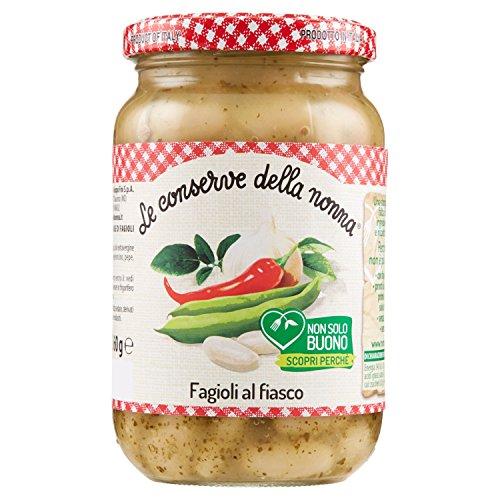 Le Conserve della Nonna Fagioli al Fiasco Ricetta Tradizionale Toscana con Fagioli Cannellini - 360 gr - [confezione da 6]