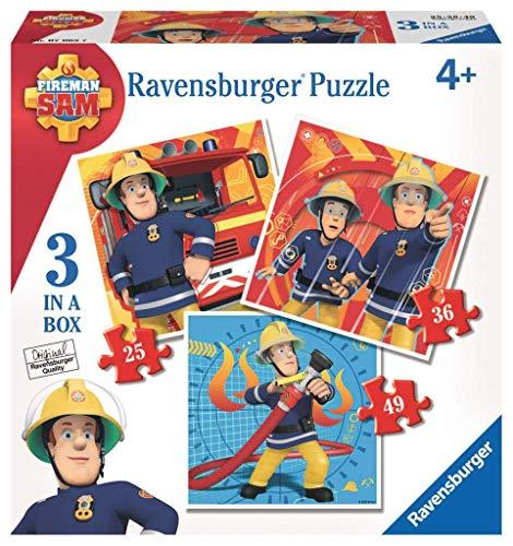 Feuerwehrmann Sam Puzzle, 3 Puzzle von Ravensburger