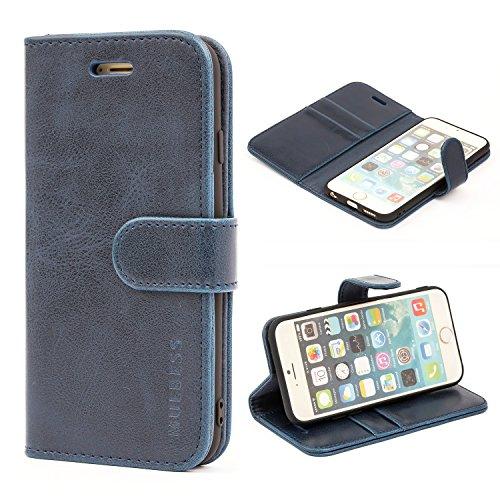 Mulbess Cover per iPhone 6s, Custodia Pelle con Magnetica per iPhone 6 / 6s (4.7 inch) [Vinatge Case], Blu Navy