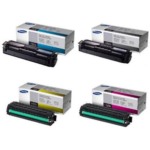 Samsung CLP-415NW CLP-415 CLX-4195FW Tonerkartuschen, C504S / Y504S / M504S / K504S, 4er Set