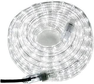 Izzy Creation 24ft Daylight White LED Rope Lights Kit, Plugin, Indoor/Outdoor Lighting, 1/2