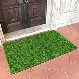 MAYSHINE Alfombra de césped artificial para interiores y exteriores, ideal para uso en casa, raspador, felpudo para perros, 91,4 x 152,4 cm