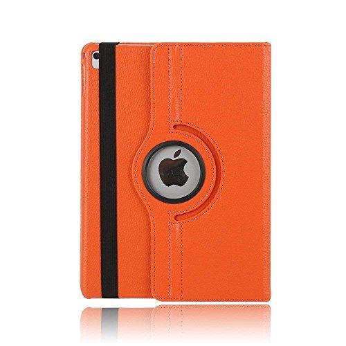 FuriGer Funda para Apple iPad 2/iPad 3/iPad 4 (piel sintética, ultrafina, ligera, con función atril de visualización multiángulo, plegable, para Apple iPad 2/3/4), color naranja