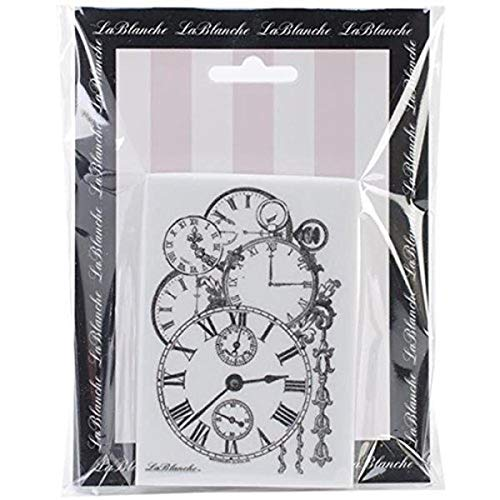 LaBlanche Silikon-Stempel, 7,6 x 10,2 cm, gehäufte Uhren