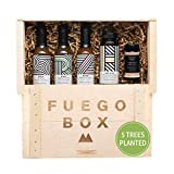 Fuego Eco Crate - Spicy Hot Sauce Gift Set That Plants 5 Trees - Includes Hot Hive Spicy Honey, Ghost Pepper Verde, Himalayan Ghost Salt, and Hot Sauces with Habaneros, Ghost, and Carolina Reapers