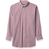 IZOD Men's Dress Shirt Regular Fit Stretch Check