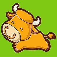 カラービーズ ストーン画 十二支 牛 DIY