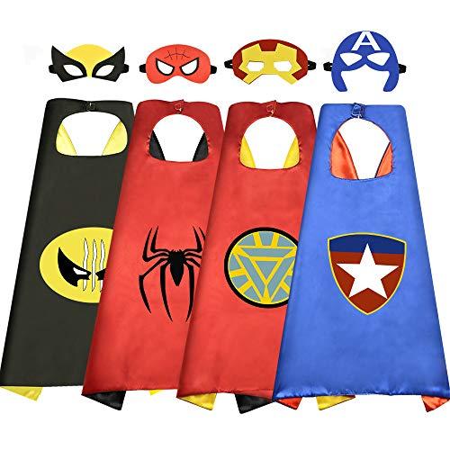 EASONY Regalos para Niños de 3-10 Años, Regalos de cumpleaños Capas de satén de Dibujos Animados Superhéroe Vestir para Niños Juguetes de Fiesta Para niños de 3-10 Años