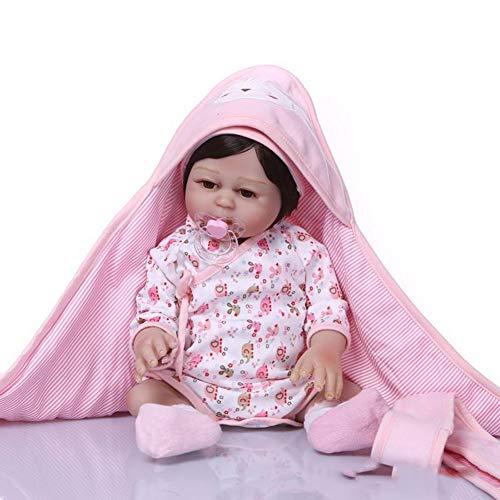 Dytxe-doll Muñecos Reborn, Bebe Reborn Juguettos, Muñeca La Moda del Renacimiento De Los 48Cm, Hermoso Regalo para Niños,B