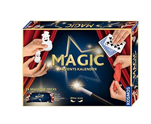 KOSMOS MAGIC Zauber Adventskalender 2021, Spannende Zaubertricks, Zauber-Utensilien für die Adventszeit, Spielzeug-Adventskalender zum Zaubern für Kinder ab 8 Jahre, Zauberkasten, Weihnachten, Magier