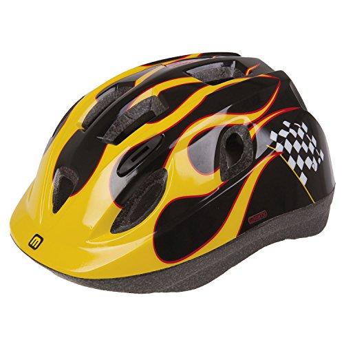 Mighty Junior Race XS Casco de Bicicleta para niños, Color Negro/Amarillo, 48-54...