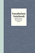 Vocabulary Notebook: Stylish Journal for Studying New Words with Cool Abstract Cover Design in Navy Blue