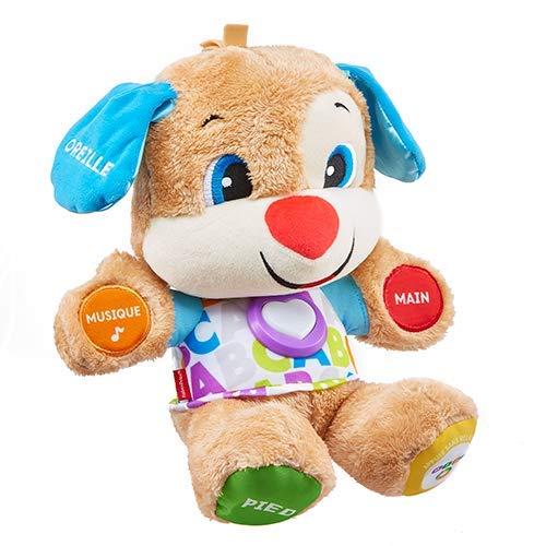 Fisher-Price Puppy Eveil Progressif jouet bébé, peluche interactive, plus de 50 chansons et 3...
