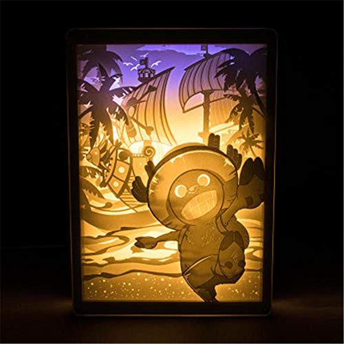 Leeslamp bedlampje tafellamp bureaulamp tafellamp tafellamp één stuk cartoon doorboord licht en schaduw papier carving lamp Action Figure Afstandsbediening Light-18X25.5Cm